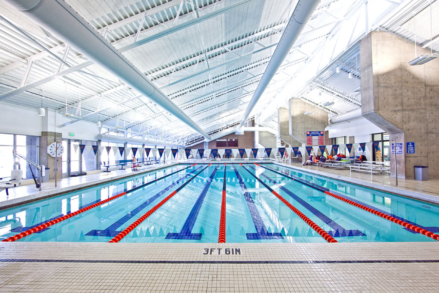 Indoor lap pool at Cottonwood Heights Recreation Center
