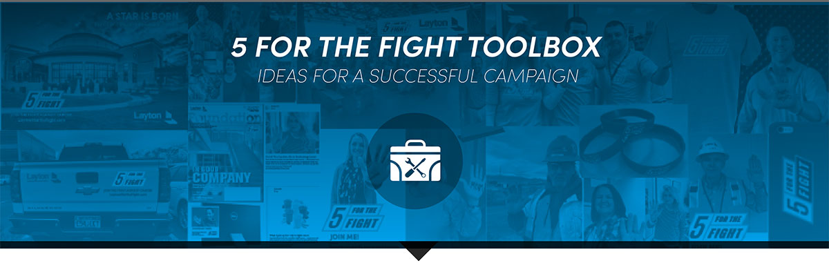 Ideas for a successful 5 for the Fight campaign